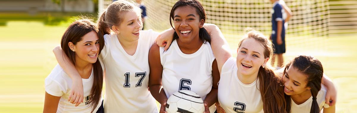 Girls playing sport